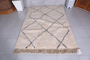 Moroccan rug,  4.8 ft x 6.9 ft