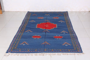 Vintage Hassira Straw Handwoven rug