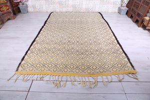 reserved for Nicole, Beige Moroccan rug, 6.7ft x 10.4ft