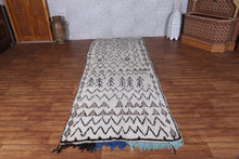 Old Moroccan Rug 3.8 ft x 9.8 ft