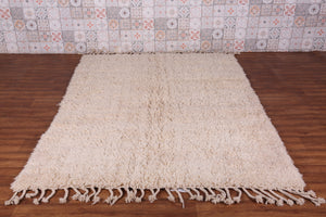 All wool Moroccan rug 5.4 FT X 7.6 FT