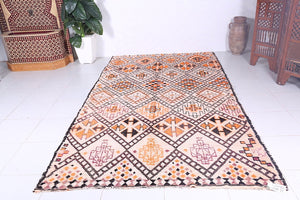 Vintage Beni ourain rug, 6.1 ft x 10.6 ft