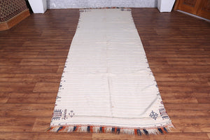 Antique Moroccan blanket 3.6 FT X 10.1 FT