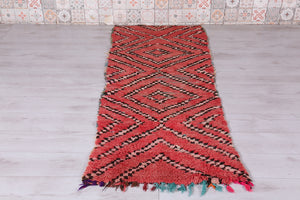Runner Moroccan rug, 2.8 FT X 7 FT