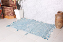 Small moroccan rug 3.3 ft x 5.2 ft