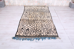 Wool beni ourain rug, 4.1 FT X 7.1 FT