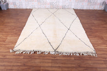 Moroccan beni ourain rug, 5.7 FT X 8.5 FT