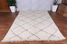 Hand knotted rug, 6.5ft x 9.9ft, Beniourain rug,