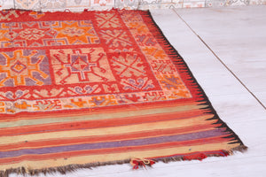 Old Moroccan rug 4.7 FT X 4.2 FT