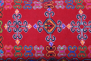 Red moroccan carpet 2 FT X 4.1 FT