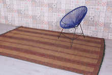 Tuareg Mat Natural Reed & Leather (5.9ft x 9ft)
