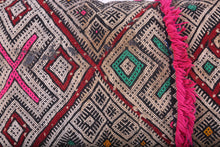 Small Tuareg Nomad Mat 3.5 ft x 4.1 ft