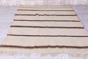 Handwoven Moroccan Kilim, 5.2 FT X 5.6 FT
