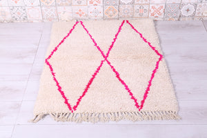 Wool Moroccan rug, 2.9 FT X 6.3 FT