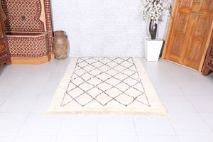 Solid Blue berber handwoven rug 8x11