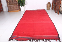 Handwoven solid rug 6 ft x 11.9 ft