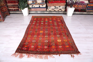 Moroccan rug, 5.4 ft x 8.1 ft