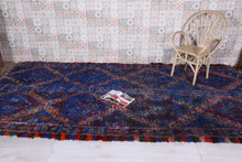 "Blue rug, 6'2""x12'7"" - The Authentic Blue Moroccan rug"