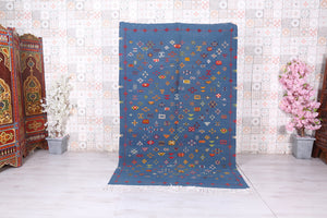 Hand woven Moroccan rug 5 ft x 8.1 ft