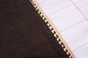 Brown Moroccan rug, 5.6 FT X 8.4 FT
