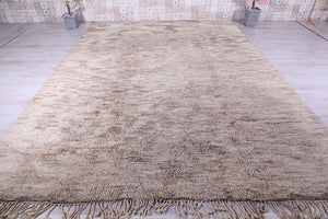 Moroccan gray rug 9.6 ft x 12.7 ft