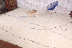 Custom Moroccan rug, beni ourain wool carpet