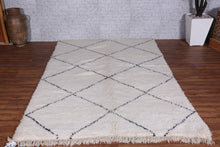 Hand knotted rug, 5.5ft x 8ft, Beni Ourain Rug,