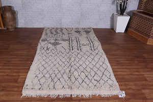 Hand knotted rug, Moroccan rug, Wool rug, Berber rug, 4.5ft x 8.3ft