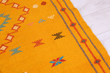 Yellow kilim rug 4.6ft x 7.5ft