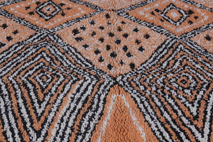 Orange moroccan rug 5.1 FT X 6.4 FT