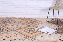 Moroccan beni ourain rug 5.9 FT X 8.3 FT