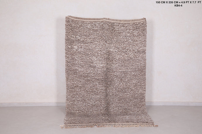 Solid Berber carpets, 4.9 ft x 7.7 ft