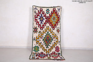Colorful azilal rug 3.6 ft x 8.2 ft