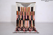 Moroccan rug, Azilal Berber rug, 3.2ft x 6.2ft