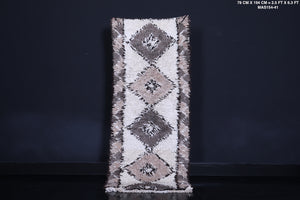 Runner moroccan rug, 2.5 ft x 6.3 ft