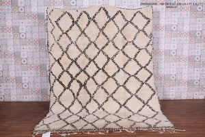 "Lozenge berber authentic moroccan rug 6'4"" x 8'2"""