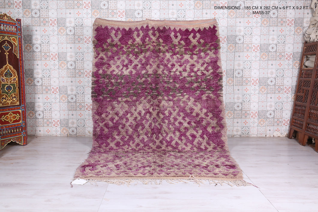 Authentic Azilal purple rug 6'x9'2