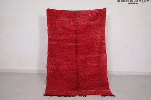 Moroccan rug red, 3.5 FT X 5.7 FT