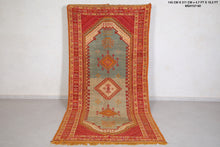 Berber rug, Hand knotted Moroccan rug, 4.7 FT X 10.2 FT