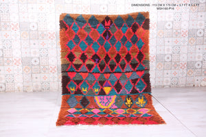 Colorful Moroccan rug 3.7 FT X 5.5 FT