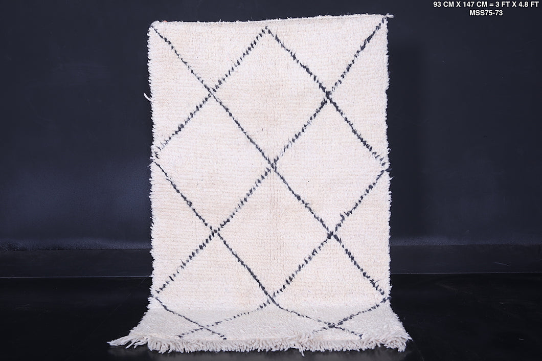 Small Beni ourain rug 3 ft x 4.8 ft