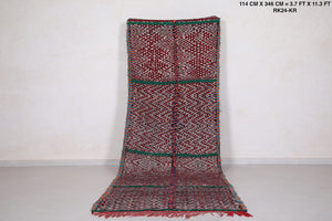 Long Berber runner rug, 3.7ft x 11.3ft