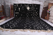 Large Moroccan rug, 11.4 FT X 16.3 FT, Black berber carpet