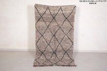 Grey wool Moroccan rug 4.1 FT X 7 FT