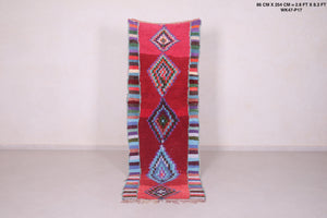 Runner moroccan rug, 2.8 FT X 8.3 FT