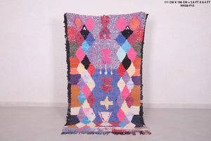 Colorful Berber rug 3.6 FT X 6.4 FT