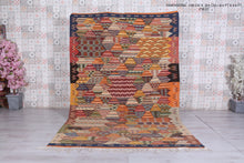Old berber rug 6.4 ft x 9.9 ft