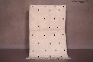 Small Beni ourain rug 2.8ft x 4.4ft