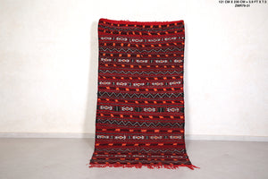Moroccan Handwoven kilim 3.9ft x 7.5ft