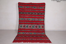 Vintage Moroccan area rug 5.6 ft x 9.8 ft